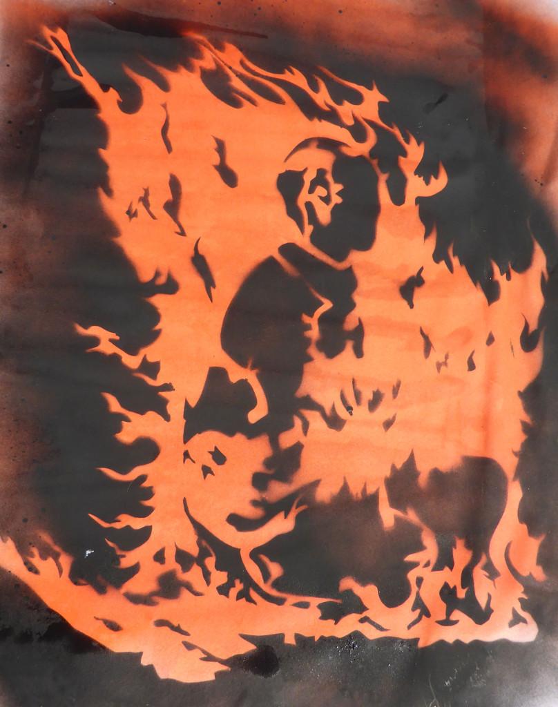 Flame-monk-stencil